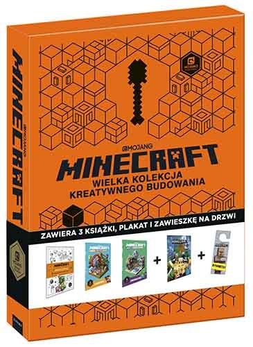 """Okładka książki """"Minecraft. Wielka kolekcja kreatywnego budowania"""" /materiały prasowe"""