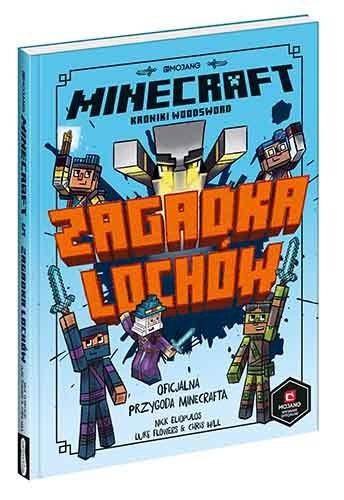 """Okładka książki """"Minecraft. Zagadka lochów"""" /materiały prasowe"""