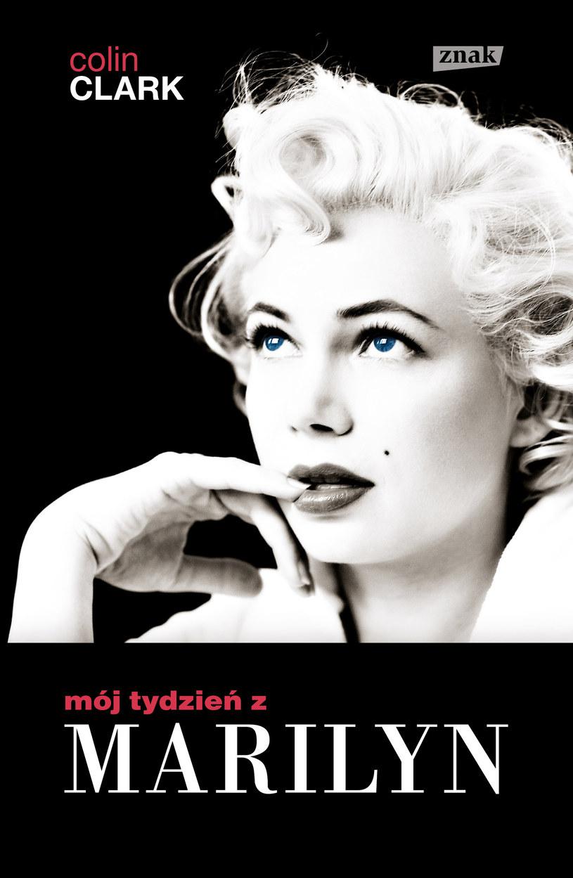 """Okładka książki """"Mój tydzień z Marilyn"""" /Wydawnictwo Znak"""