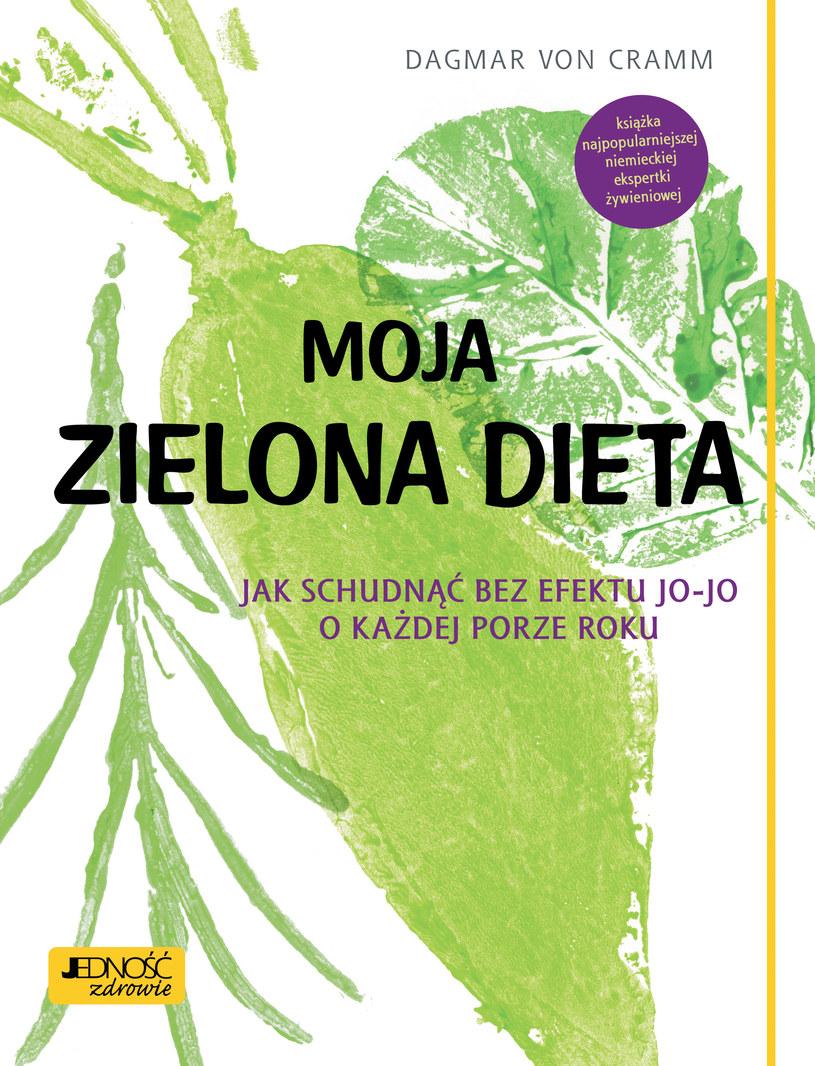 """Okładka książki """"Moja zieolna dieta"""" /materiały prasowe"""