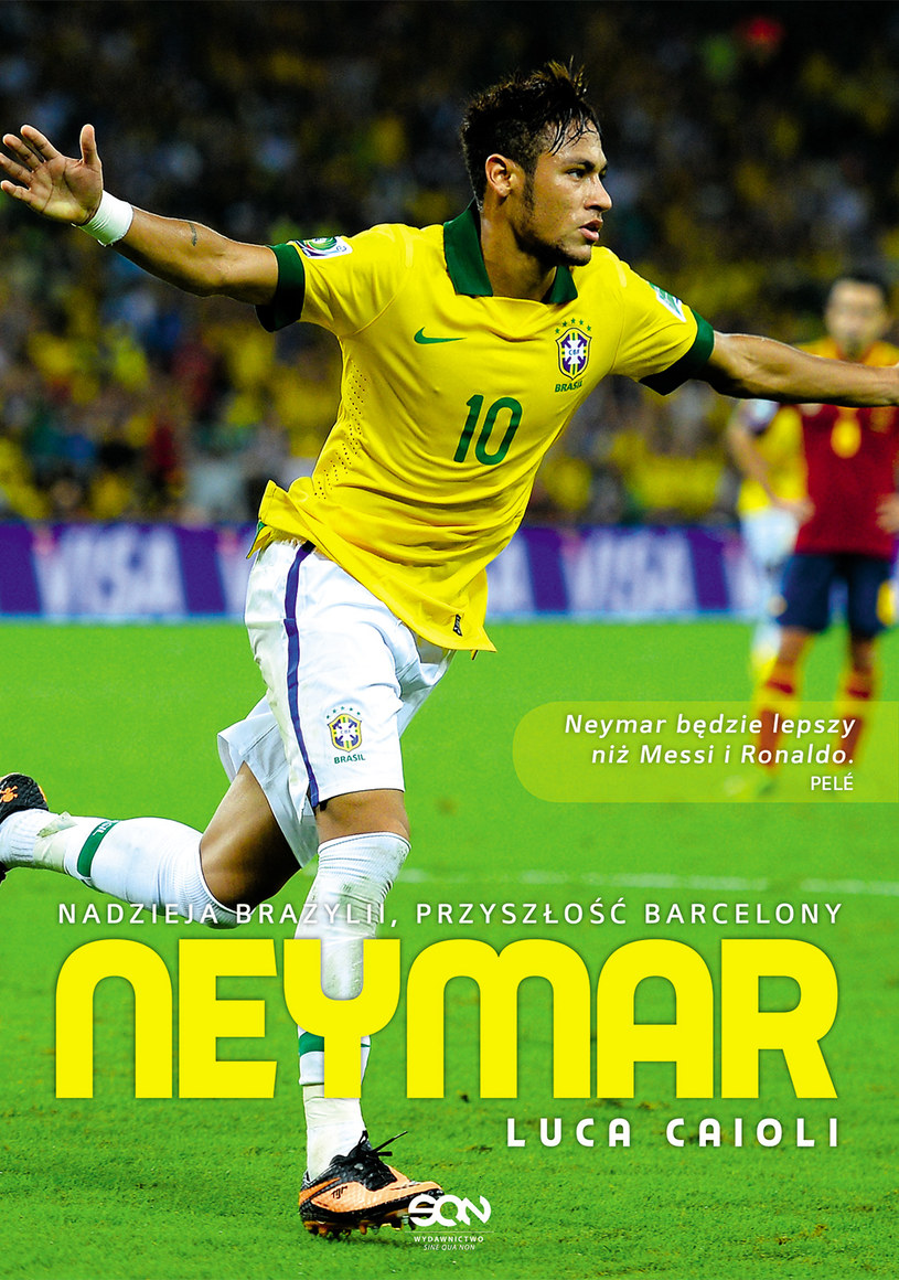 """Okładka książki """"Neymar. Nadzieja Brazylii, przyszłość Barcelony"""" /materiały promocyjne"""