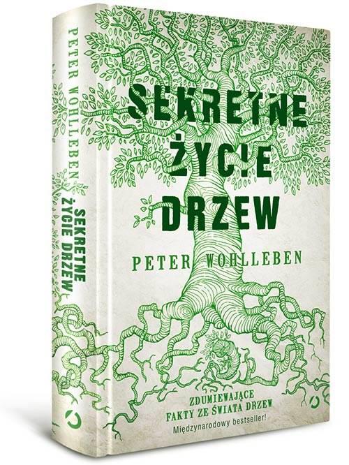 """Okładka książki Petera Wohllebena """"Sekretne życie drzew"""" /materiały prasowe"""