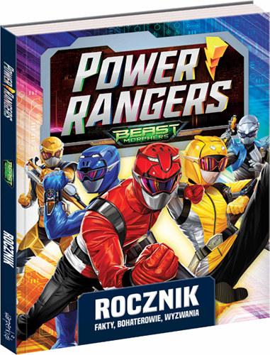 """Okładka książki """"Power Rangers. Rocznik. Fakty, bohaterowie, wyzwania"""" /materiały prasowe"""