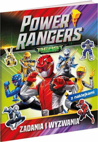 """Okładka książki """"Power Rangers. Zadania i wyzwania"""" /materiały prasowe"""