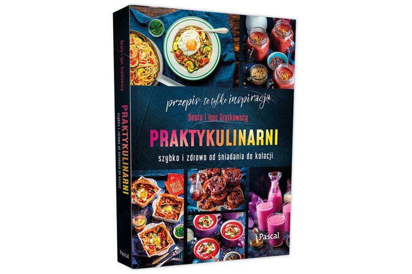 """Okładka książki """"Praktykulinarni. Szybko i zdrowo od śniadania do kolacji"""". /materiały prasowe"""