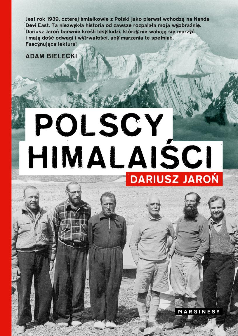 """Okładka książki pt. """"Polscy himalaiści"""" Dariusza Jaronia /"""