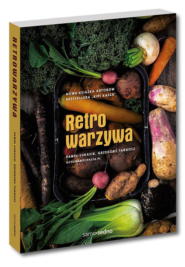 """Okładka książki """"Retrowarzywa"""" /Styl.pl/materiały prasowe"""