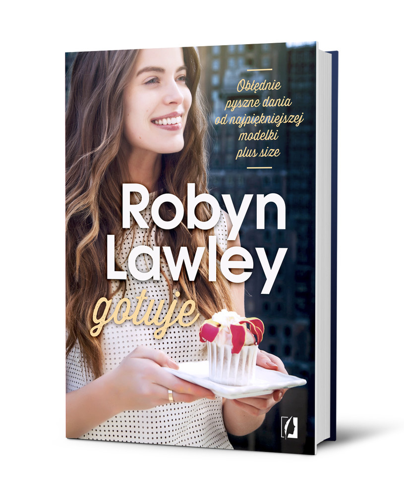 """Okładka książki """"Robyn Lawley gotuje"""" /materiały prasowe"""