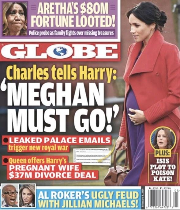 """Okładka magazynu """"Globe"""" /"""