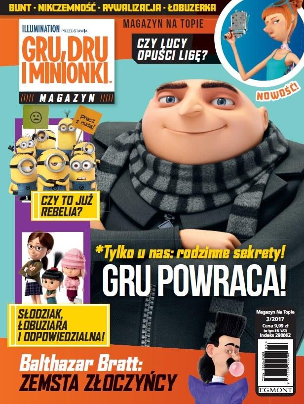 """Okładka magazynu """"Gru, Dru i Minionki"""" /materiały prasowe"""