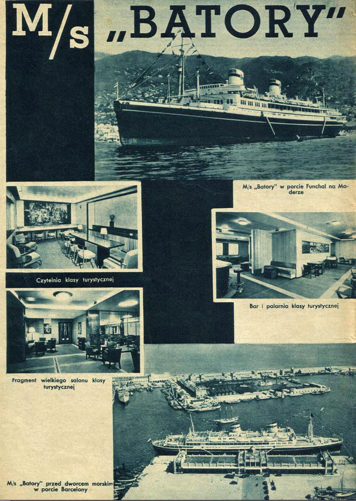 """Okładka magazynu """"Morze"""" z 1936 r. z forograficznę realacją z pierwszego rejsu """"Batorego"""" /INTERIA.PL"""