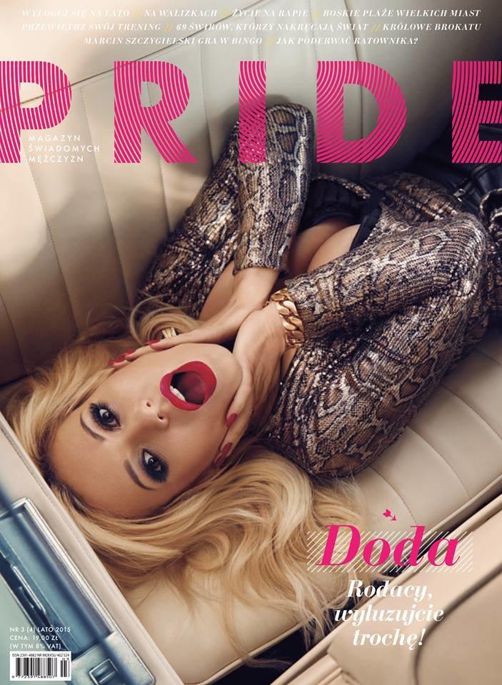 """Okładka magazynu """"Pride"""" z Dodą /- /materiały promocyjne"""