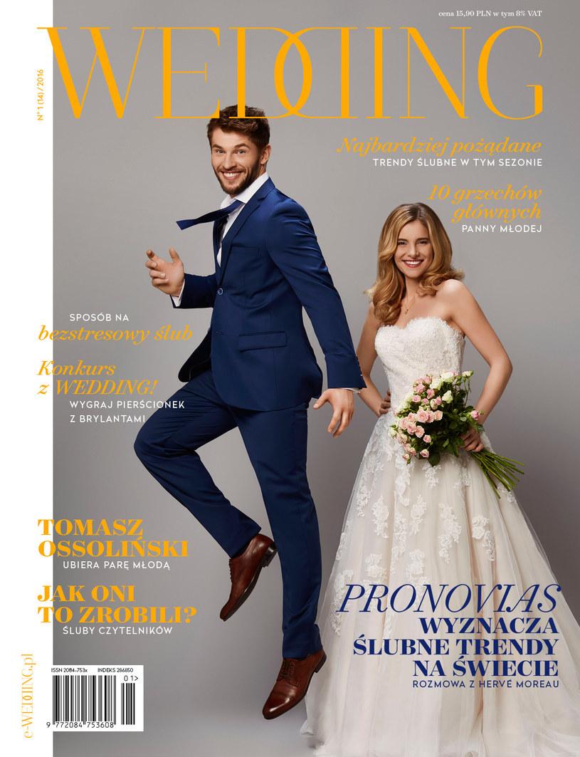 Okładka magazynu Wedding 1/2016 /materiały prasowe