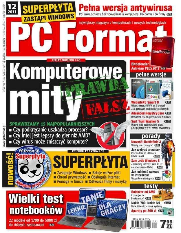 Okładka najnowszego numeru PC Format 12/2011 - od 7 listopada w kioskach /PC Format