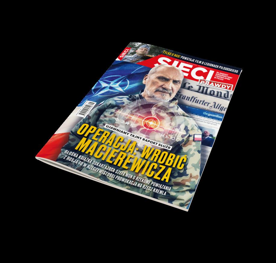 """Okładka najnowszego numeru tygodnika """"Sieci"""" /Materiały prasowe"""