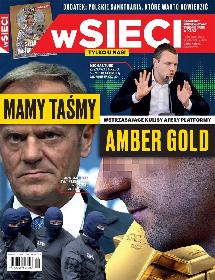 """Okładka najnowszego numeru tygodnika """"wSieci"""" /Materiały prasowe"""