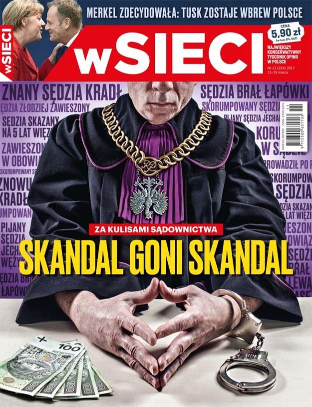Okładka najnowszego wydania tygodnika /wSieci /Materiały prasowe