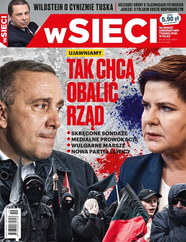 """Okładka najnowszego wydania """"wSieci"""" /wSieci /Materiały prasowe"""