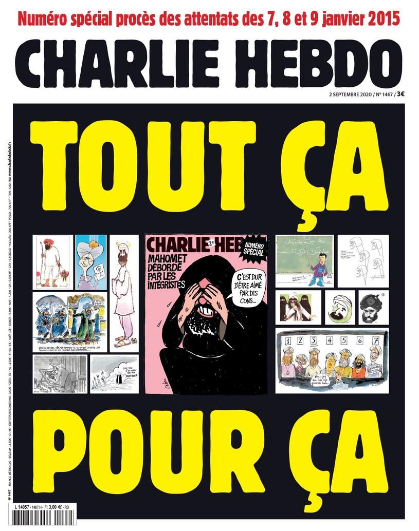 """Okładka nowego numeru """"Charlie Hebdo"""" /facebook.com"""