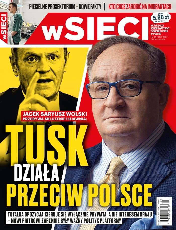 Okładka nowego wydania tygodnika /wSieci /