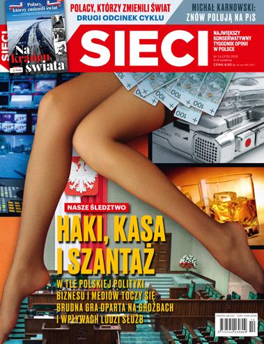 """Okładka nowego wydania tygodnika /""""Sieci"""" /Materiały prasowe"""