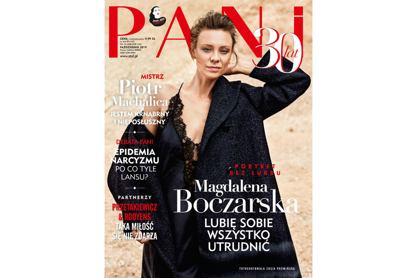 Okładka październikowego magazynu PANI /PANI
