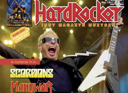 """Okładka pierwszego numeru magazynu """"Hard Rocker"""" /"""