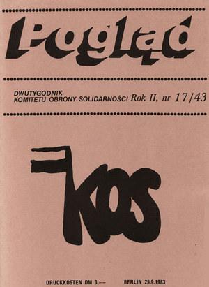 """Okładka pisma """"Pogląd"""" - nr 43 z 1983 r. Źródło: www.poglad-berlinwest.de /INTERIA.PL"""