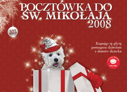 """Okładka płyty """"Pocztówka do św. Mikołaja 2008"""" /"""