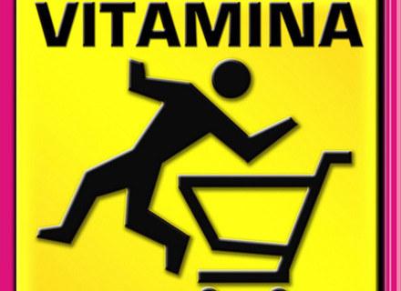 """Okładka płyty """"Uwaga! Wymiotuje"""" Vitaminy /"""