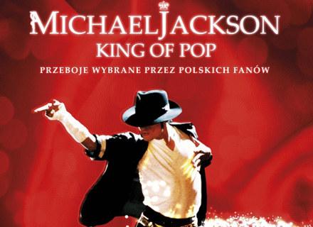 """Okładka polskiej płyty """"King Of Pop"""" Michaela Jacksona /"""