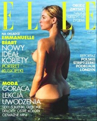 "Okładka sierpniowego numeru ""Elle"" /INTERIA.PL"