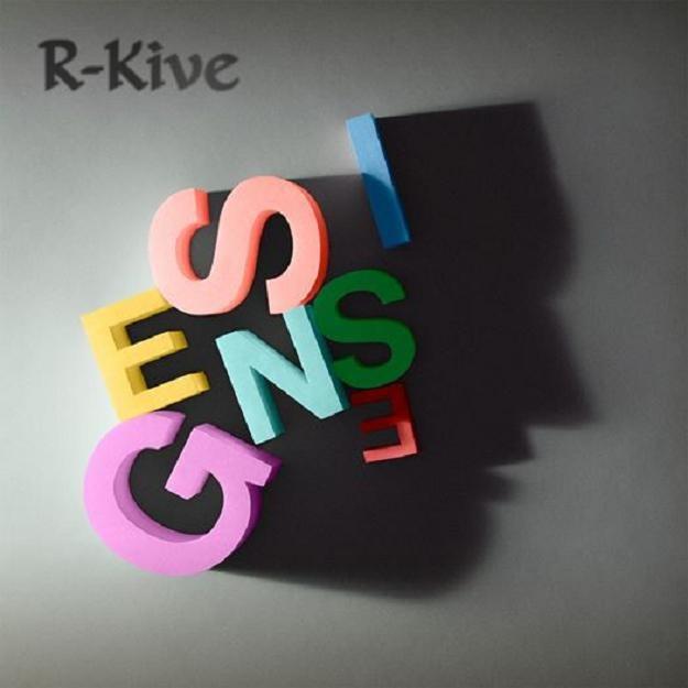 """Okładka składanki """"R-Kive"""" Genesis. Nowe tylko logo /"""