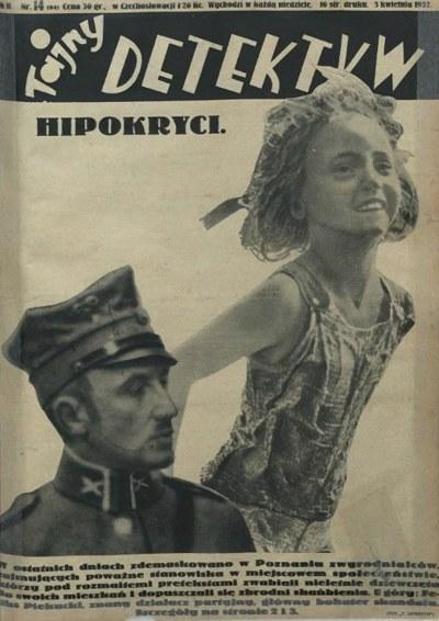 """Okładka """"Tajnego Detektywa"""" z 3 kwietnia 1932 roku /Mazowiecka Biblioteka Cyfrowa /domena publiczna"""