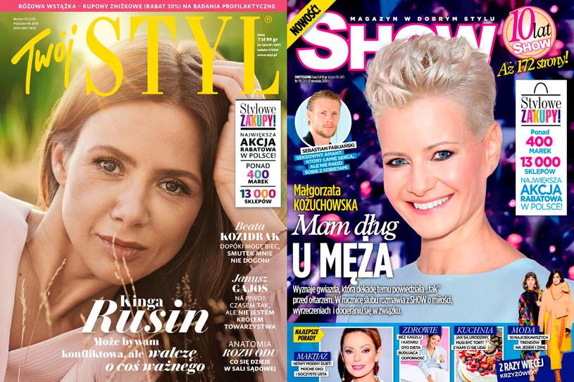 Okładka Twojego STYLU 10/2018 i Show 19/2018 /Styl.pl