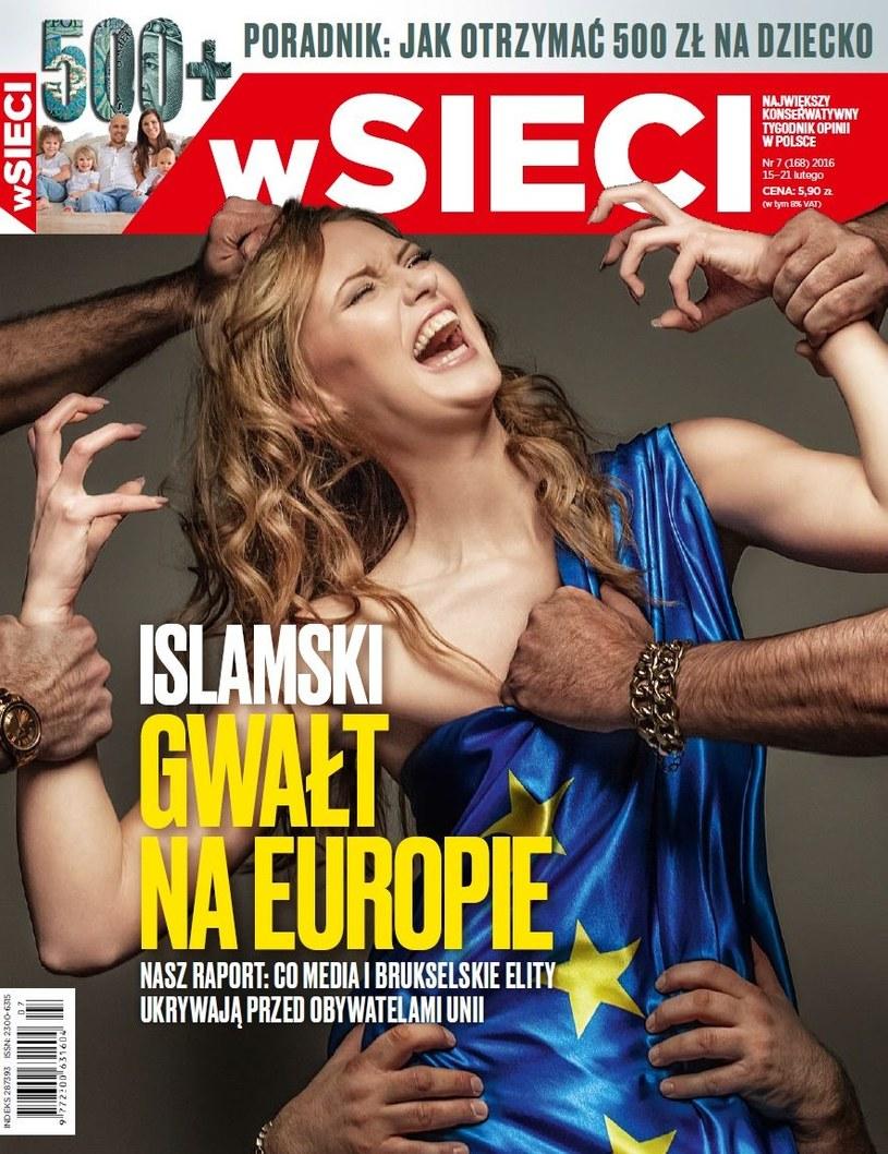 """Okładka tygodnika """"W Sieci"""" /"""