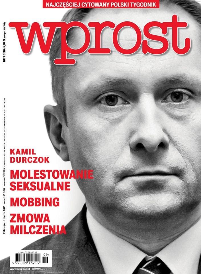 """Okładka tygodnika """"Wprost"""" /Wprost"""