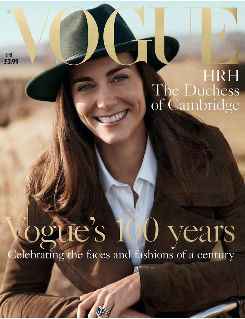 """Okładka """"Vogue"""" z księżną Kate /East News"""