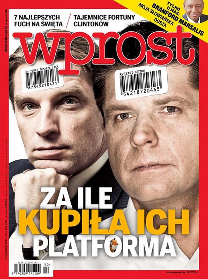 """Okładka """"Wprost"""" 50/2015 /"""