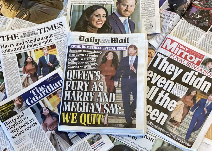 Okładki brytyjskich gazet 9 stycznia br. /DANIEL LEAL-OLIVAS/AFP/East News /East News