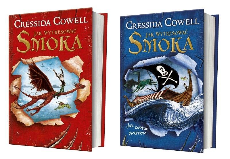 """Okładki książek """"Jak wytresować smoka"""" i """"Jak zostać piratem"""" /materiały prasowe"""
