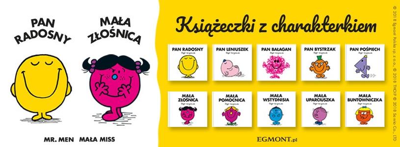 Okładki książek z serii MR. MEN i MAŁA MISS /materiały prasowe