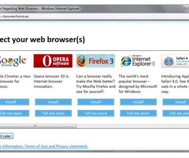 Okno wyboru a rynek przeglądarek