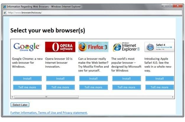 Okno wyboru przeglądarki w Windowsie może zostać wykorzystane przez cybeprzestępców /AFP