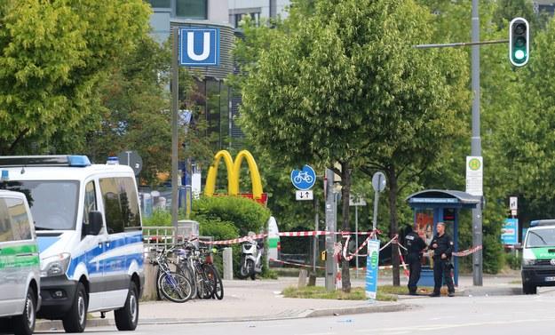 Okolice centrum handlowego, gdzie zaatakował 18-latek /Karl-Josef Hildenbrand /PAP/EPA