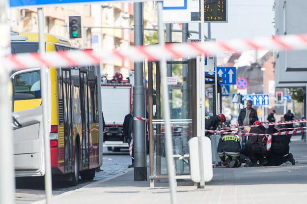 Okolice przystanku autobusowego na ulicy Kościuszki we Wrocławiu /Maciej Kulczyński /PAP