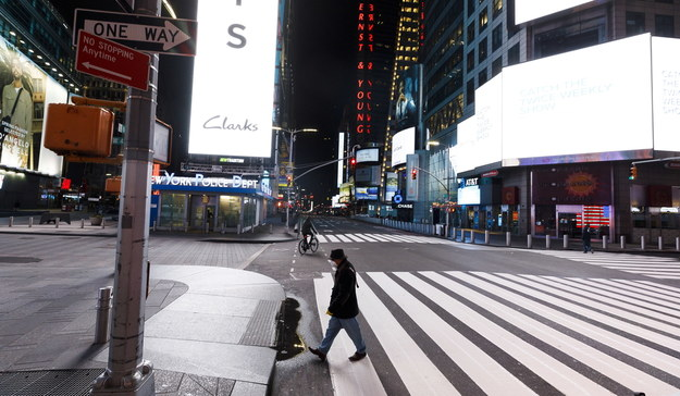 Okolice Times Square w Nowym Jorku /JUSTIN LANE /PAP/EPA