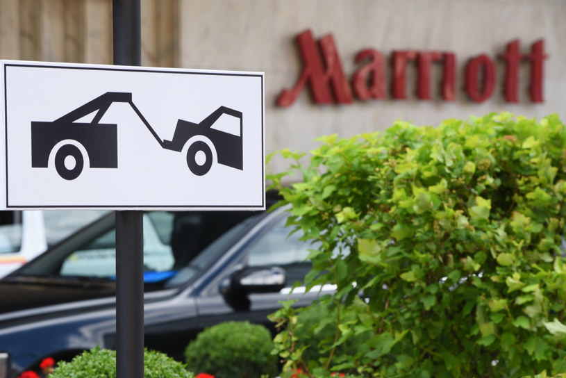 Okolice warszawskiego hotelu Marriott, gdzie w trakcie swojej wizyty będzie nocował prezydent USA Donald Trump /PAP