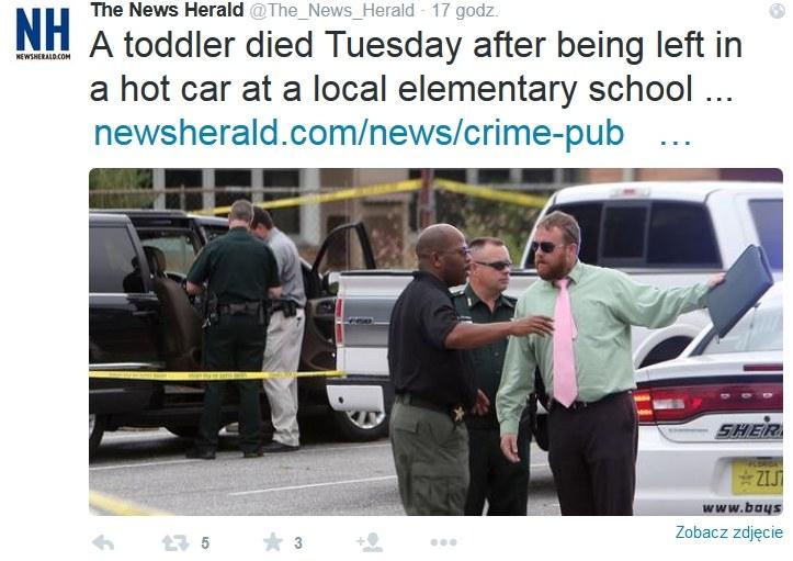 Okoliczności tragedii wyjaśnia miejscowa policja. /Twitter