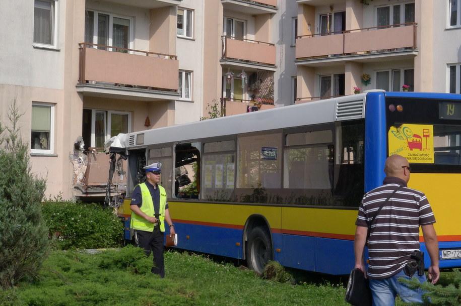 Okoliczności wypadku w Płocku wyjaśnia policja /Marcin Bednarski /PAP